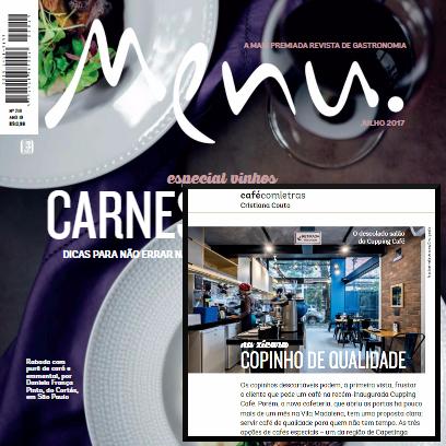 Revista Menu Cupping Café